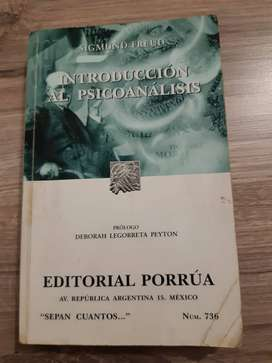 Libro Introducción al psicoanálisis