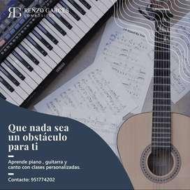 Clases virtuales de Piano - Guitarra Canto Ukulele Teoría Musical LEA con Renzo Garcés