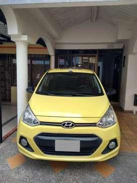 Taxi Hyundai Gran I 10, modelo 2015, full equipo, cojinería en cuero, doble airbag, único dueño, documentos al día.