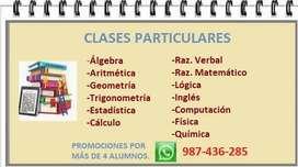 CLASES PARTICULARES-CIENCIAS-LETRAS