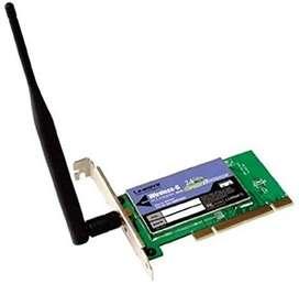 Tarjeta Inalambrica Cisco-Linksys WMP54GS Wireless-G PCI Card with SpeedB