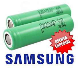 Bateria Ion-Litio 18650 Samsung modelo 25R 3.7V 2500Mah