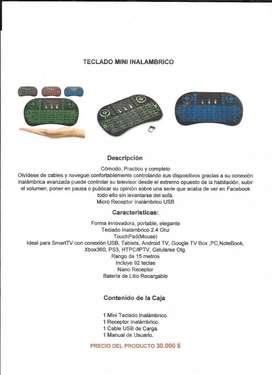 Teclado mini inalámbrico sirve para tablets, celulares, tv, portátil,