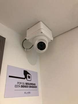 Sistema de 6 camaras de seguridad con monitores