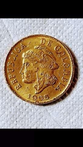 Moneda 2 centavos de colombia 1905- 1965 bj