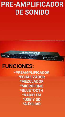 Preamplificador USB BT FM MX324