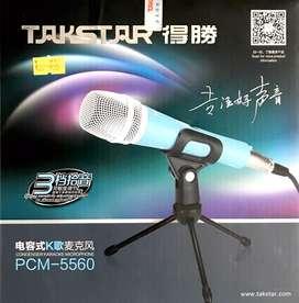 Microfono de condensador, youtubers, podcasters cantantes