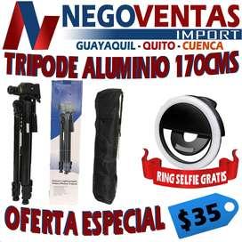 TRIPODE  DE ALUMINO 17CMS