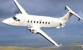 Avión privado de la marca Beechcraft modelo 1900, dispone de gran espacio en cabina con sillas para 19 pasajeros