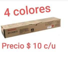 Se vende toner sharp modelo mx-c4 10 doláres C/U