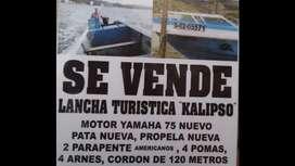 Lancha Motor Yamaha75 2 Parapentes Y Mas