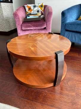 Mesa de centro madera caoba