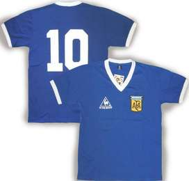 Camiseta Argentina Mundial 86' Azul Maradona Número #10