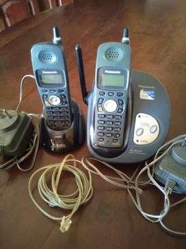 Vdo. Tel. Inalámbricos por 2 Panasonic ( sin baterías).