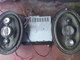 Estéreo más 2 parlantes 6x9