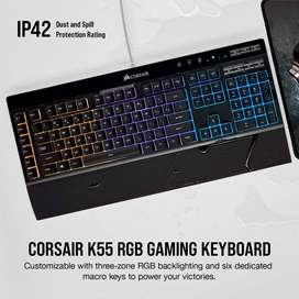 Teclado Gamer Membrana Pc Corsair K55 Entrega Inmediata