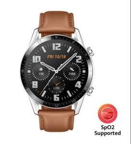 Reloj Huawei Latona Leather con Medidor de Oxigeno en Sangre SpO2