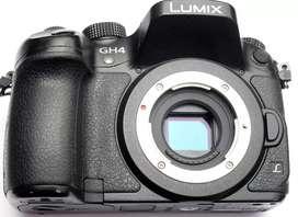 Camara lumix gh4 mas lente 12-50