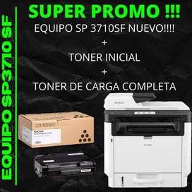 EQUIPO SP3710SF + TONER INCIAL + TONER COMPLETO