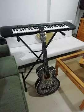 Combo piano CTK 245 y guitarra