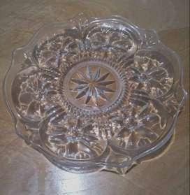 Plato decorativo de vidrio