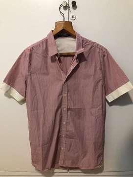 Camisa Tascani Rosa Manga corta