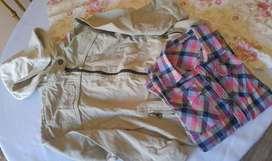 Conjunto campera Gabardina Y Camisa T 14