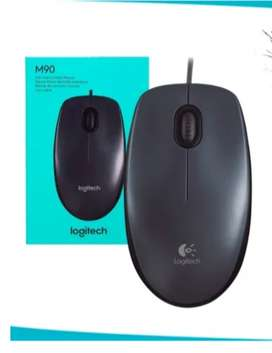 Mouse Logitech Cable Usb M90 Optico 1000 Dpi 3 Botones