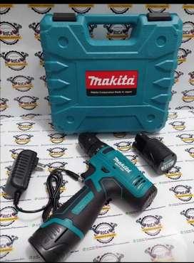 Super promoción de taladro inalámbrico 12vl 2 batería cargador estuche makita dewalt
