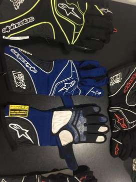 Guantes Alpinestars 1-ZX Tech Racing Automovilismo Karting 100% Authentic Certificados FIA SFI