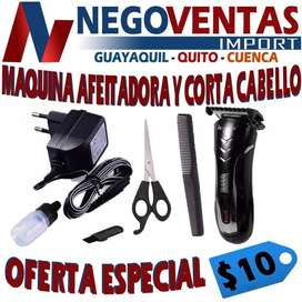 MÁQUINA AFEITADORA Y CORTA CABELLO OFERTA 10,00