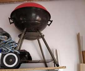 Asador carbón sencillo