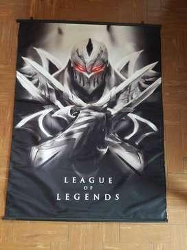 Art 505 Poster de Tela League of Legends LOL Zed