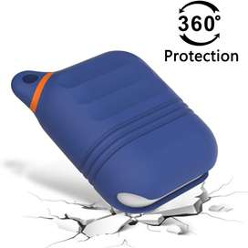 HALLEAST - Funda para AirPod 1 AirPod 2, impermeable, incluye luz LED frontal