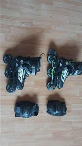 patines en linea niño - talla ajustable