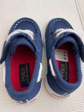 Zapatos Polo Ralph Lauren Orginal Para Niños Talla 5