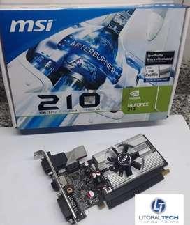 Placa de video MSI NVIDIA. GEFORCE N210 PCI-E, 1 GB DDR3, HDMI. VGA