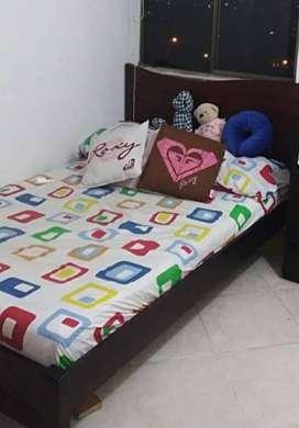 cama  semidoble con colchón