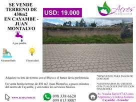 TERRENOS URBANOS Y RURALES HASTA 5000M2 EN VENTA EN CAYAMBE – ECUADOR
