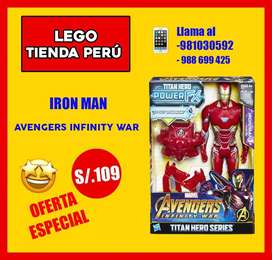 Iron man articulado y con sonidos . Marvel super heroes