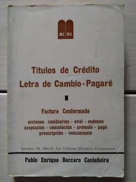 Libro Títulos De Crédito, Letra De Cambio, Pagaré Castañeira (Ver DESCUENTOS)