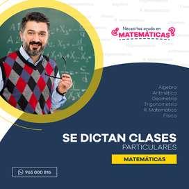 Clases De Matemáticas / Moquegua