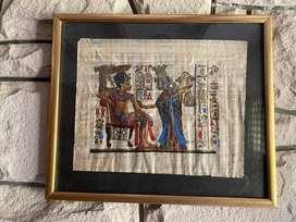 papiro en el cuadro