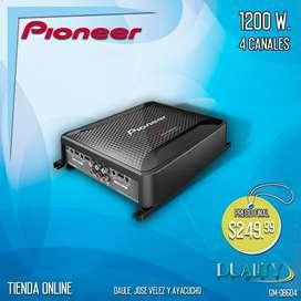 Amplificador De Carro Pioneer 1200 Wts. *4 Canales*
