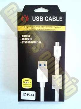 Cable USB blindado largo 2 metros 3 metros datos cargar celular