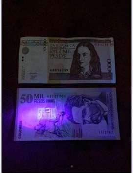 Probador De Billetes Falsos, Luz Ultravioleta Uv Portatil Probador de billetes falsos, en forma de lapicero