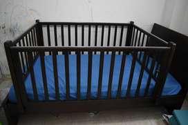 Corral madera cama sencilla