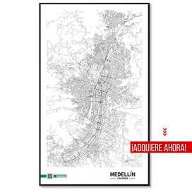 Cuadro / póster decorativo de ciudades - Minimalista