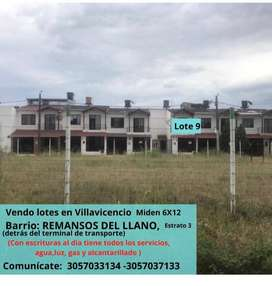 Vendo Lotes en Villavicencio. Barrio; Remansos del Llano
