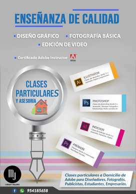 Clases particulares Diseño Gráfico, Fotografía, Marketing, Edición de video